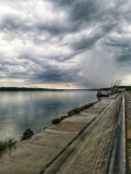 Дунавски парк в облачно време